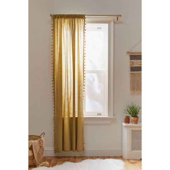 Urban Outfitters Pompom Curtain Pear Single 52x84